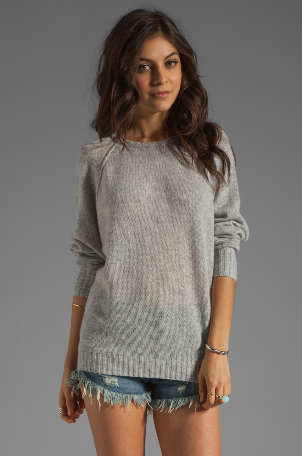 Autumn Cashmere Relaxed Fit Sweater in Fog