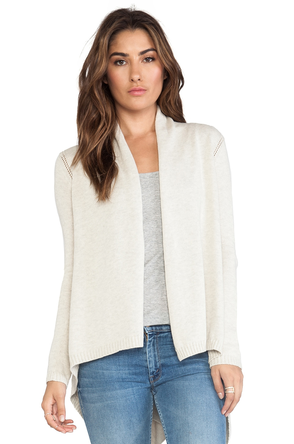Autumn Cashmere Open Drape Cardigan in Hemp