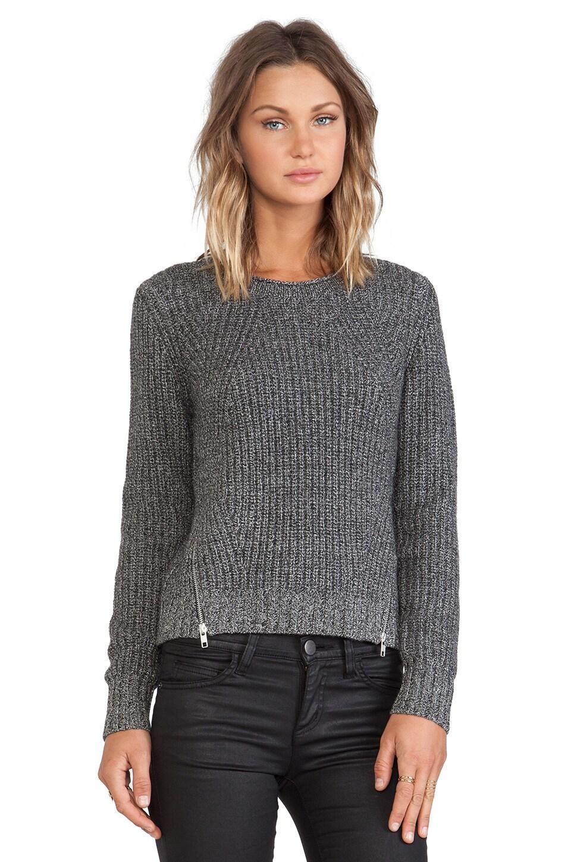 Autumn Cashmere Shaker Stitch Sweater in Salt n Pepper