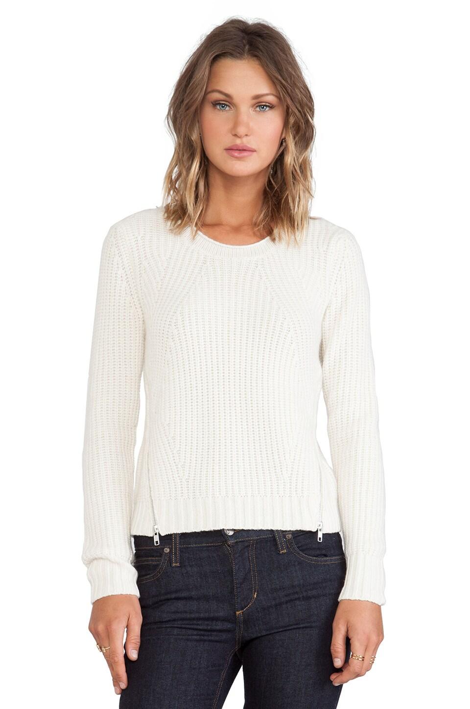 Winter White Cashmere Sweater Sweater in Winter White
