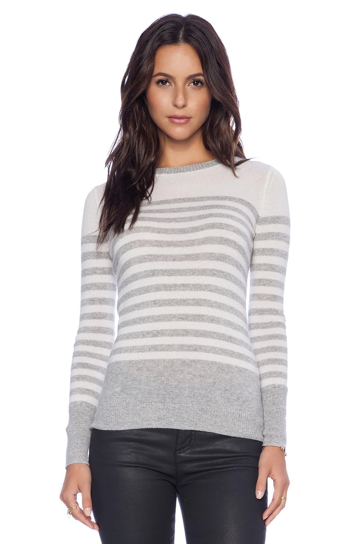 Autumn Cashmere Sailor Stripe Sweater in Sweatshirt & White