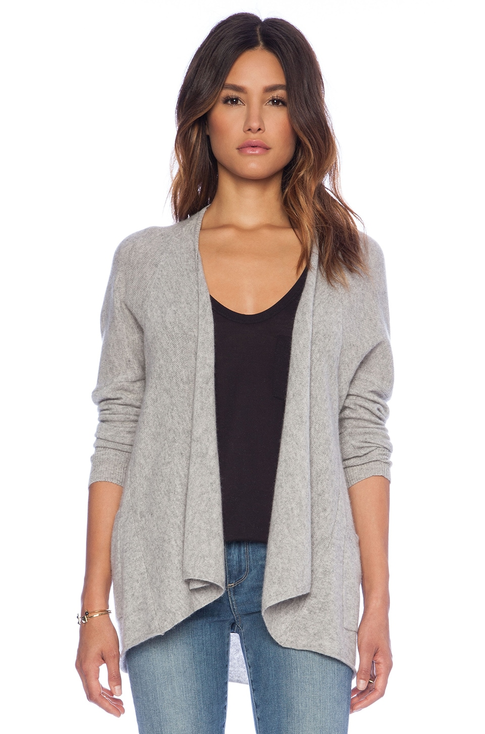 Autumn Cashmere Drape Cardigan in Sweatshirt