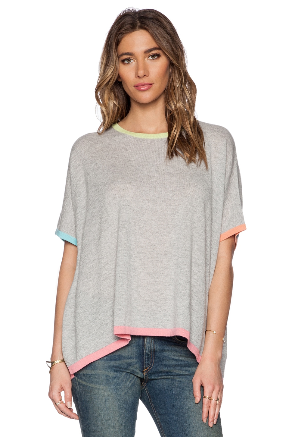 Autumn Cashmere Rectangle Sweater in Fog Multi