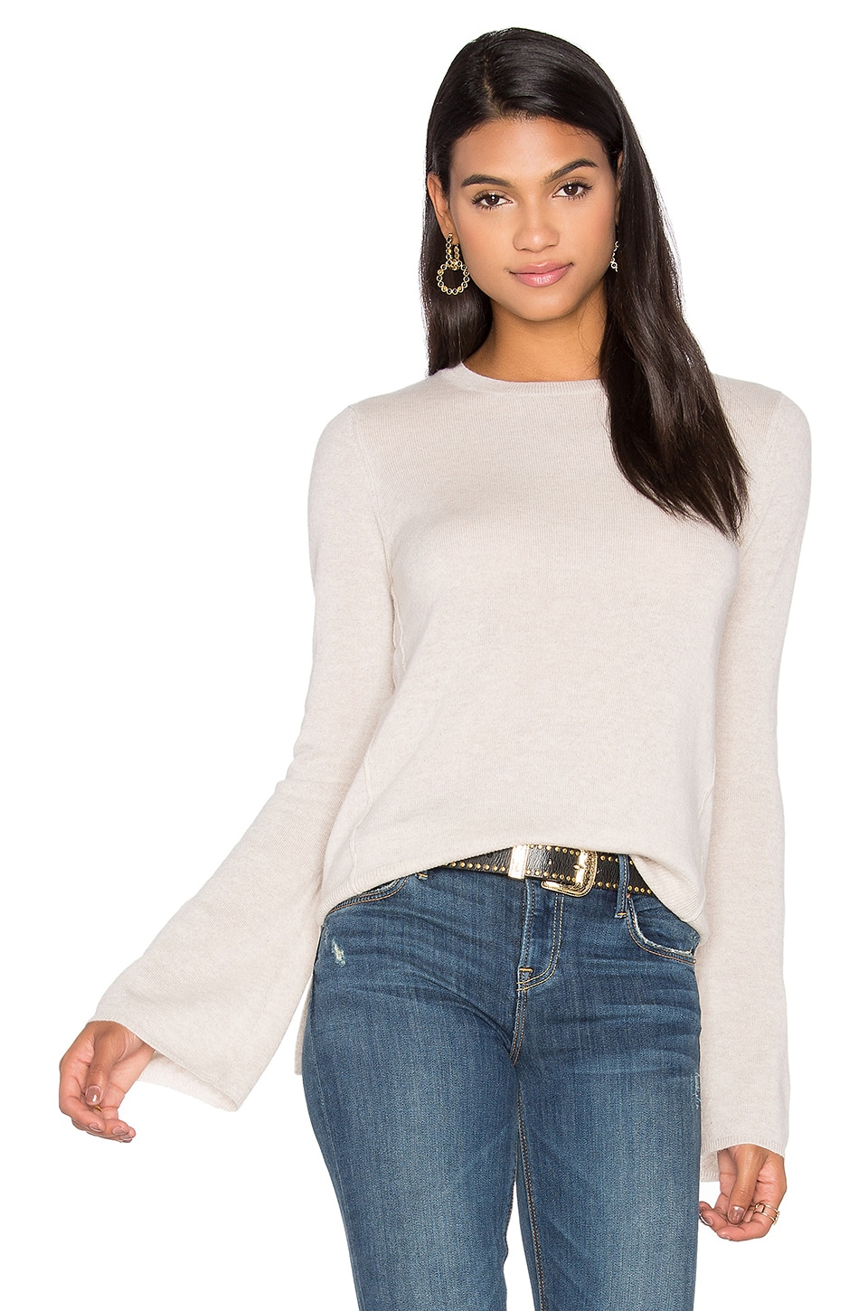 Autumn Cashmere Bell Sleeve Sweater in Mojave