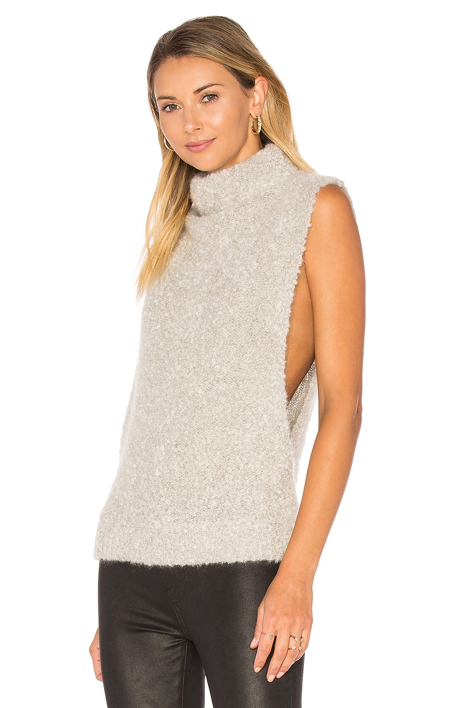 Boucle Funnel Neck Sweater by Autumn Cashmere