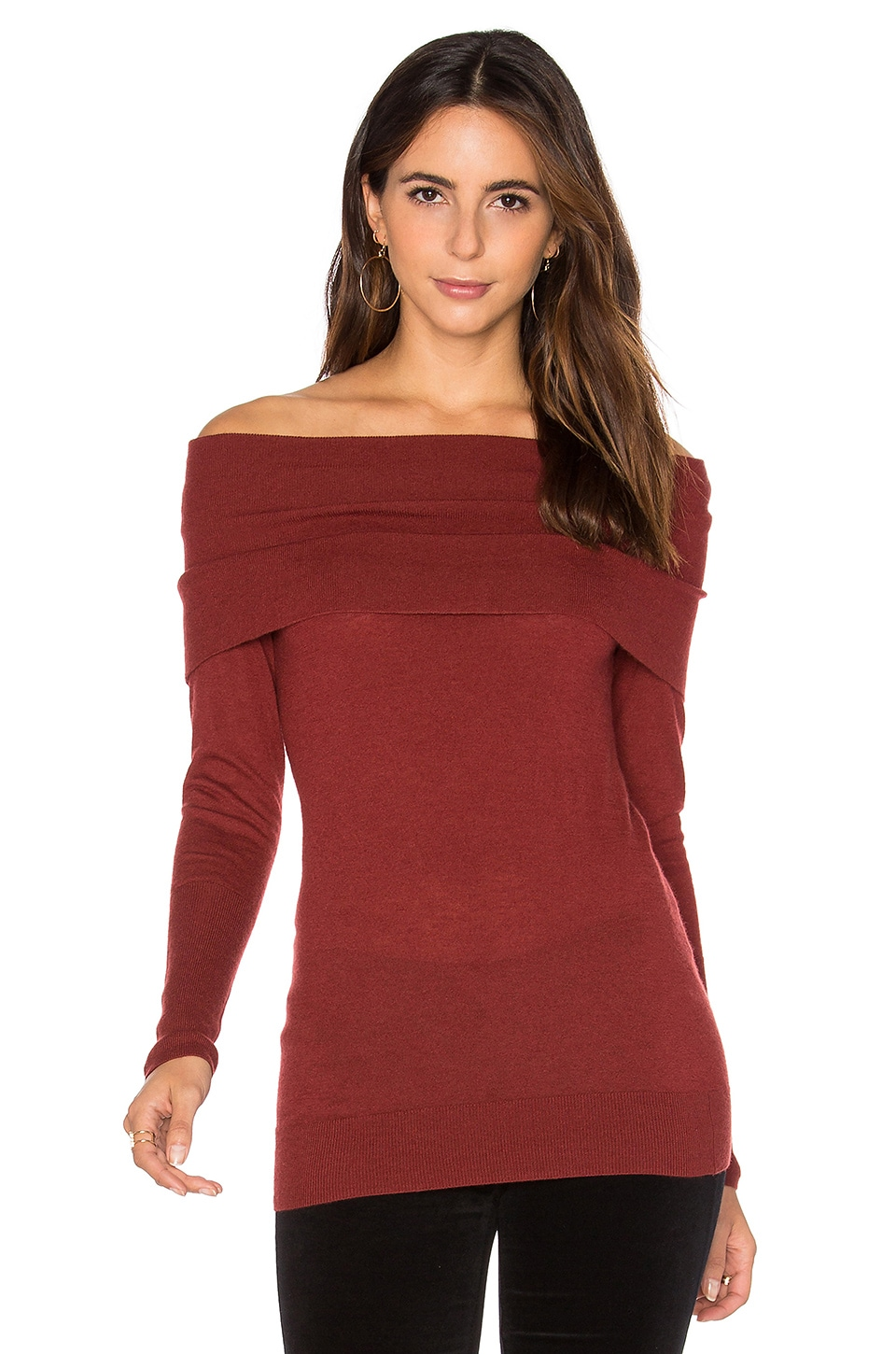 Off Shoulder Sweater by Autumn Cashmere