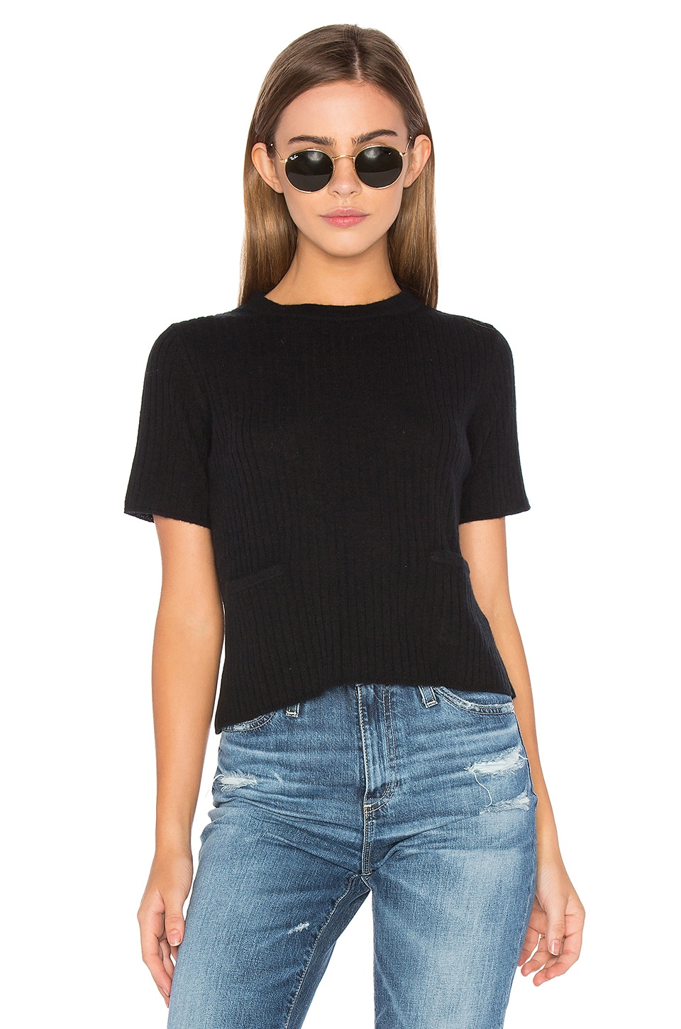 Ribbed Boxy Tee by Autumn Cashmere