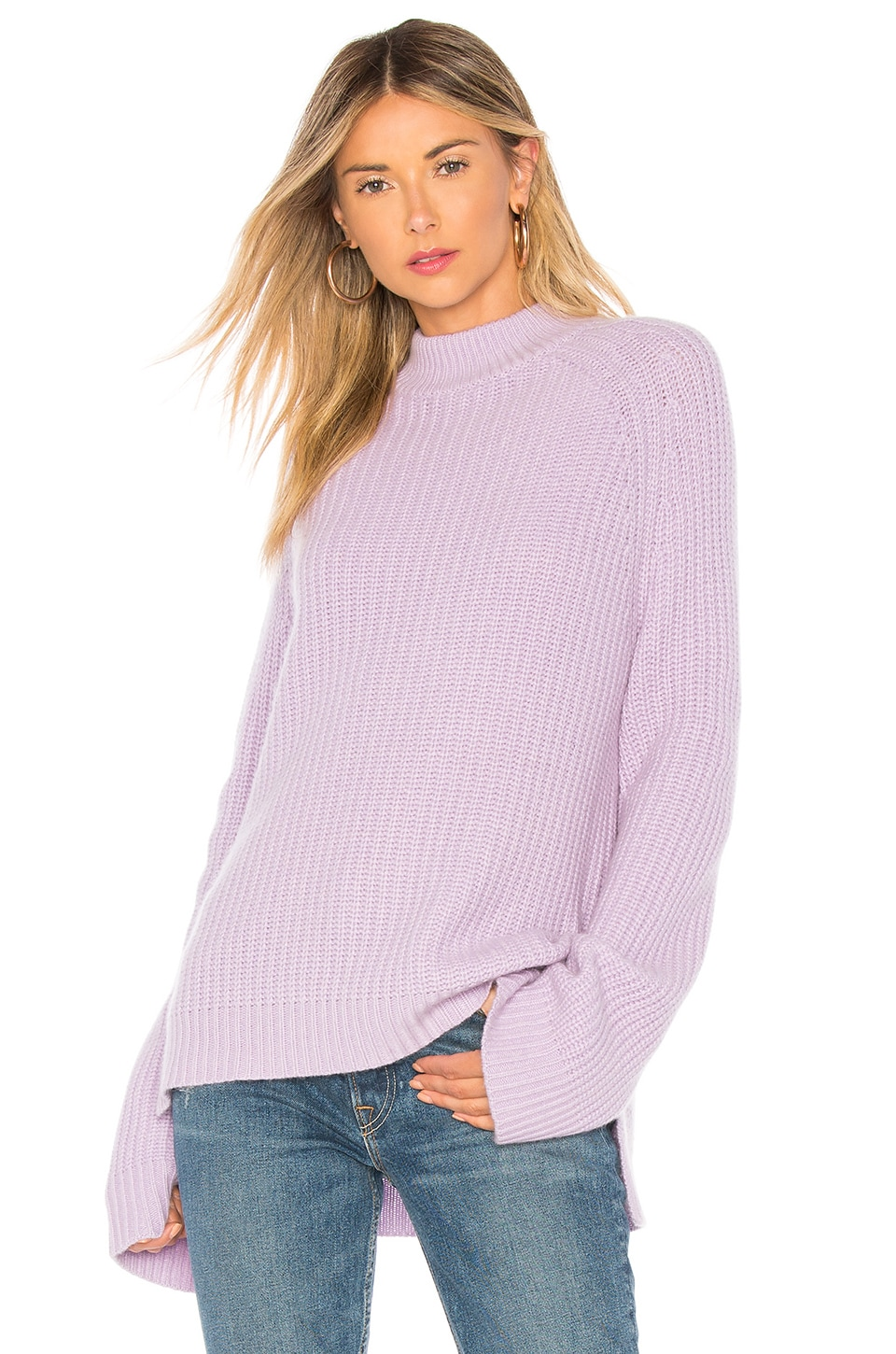 Autumn Cashmere Bell Sleeve Sweater in Lavender