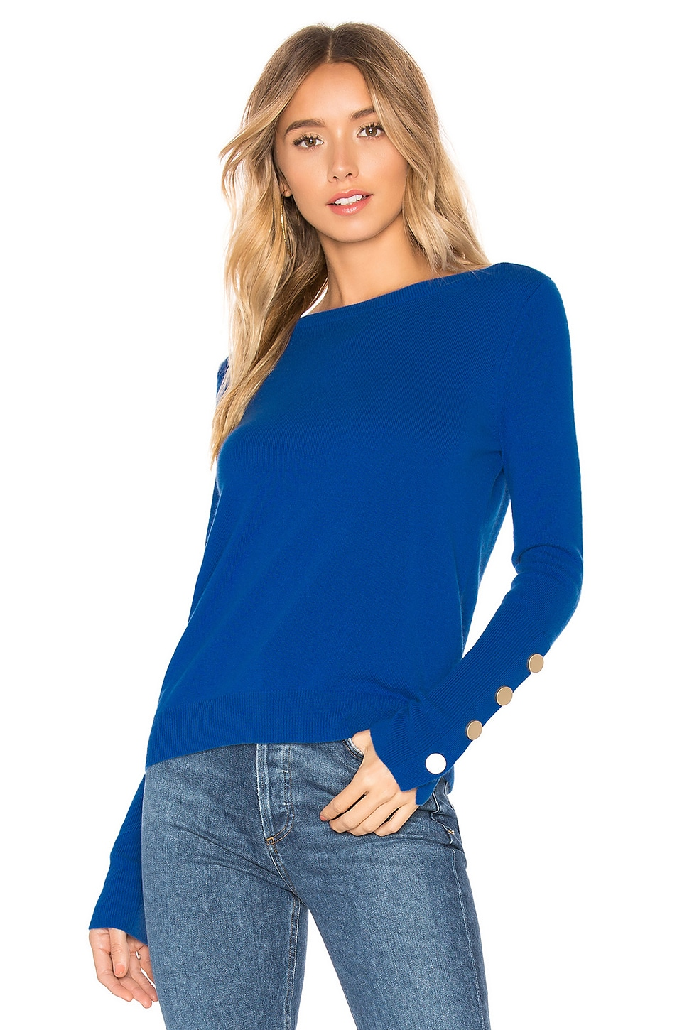Autumn Cashmere Boatneck Sweater in Nautical