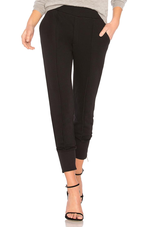 AVEC LES FILLES Side Zip Jogger Pant in Black
