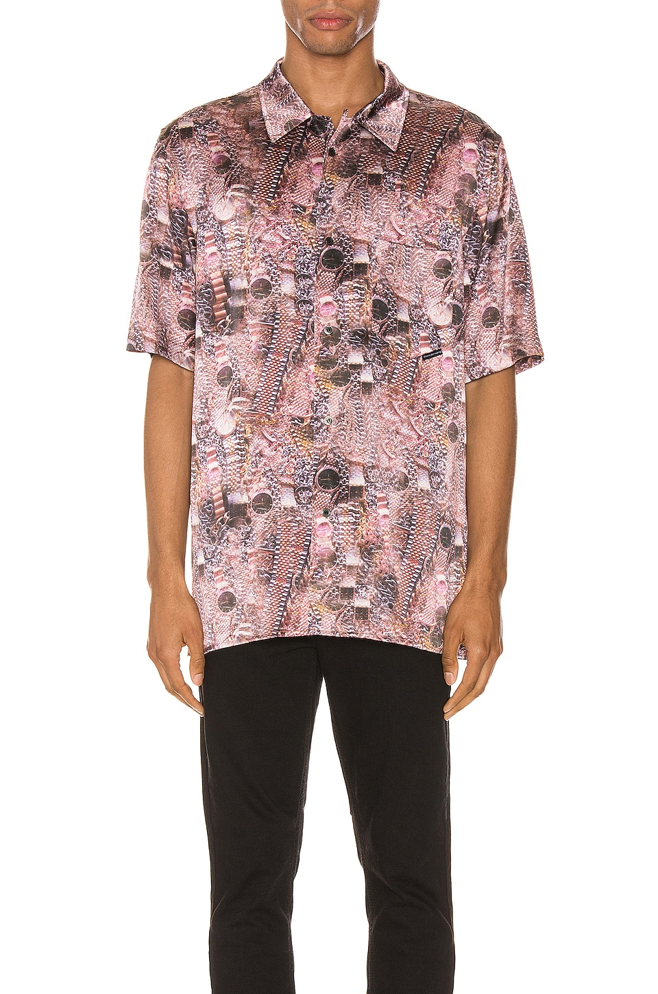 Alexander Wang Printed Silk Shirt en Hustler Repeat