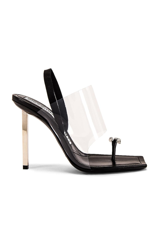 Alexander Wang Kaia Crystal Logo Heel in Black