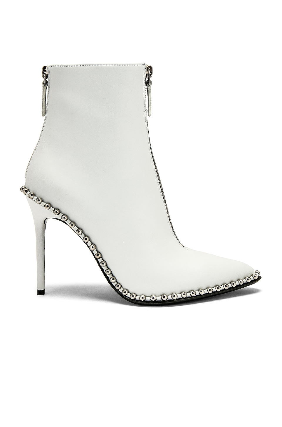 Alexander Wang Eri Bootie in White Leather