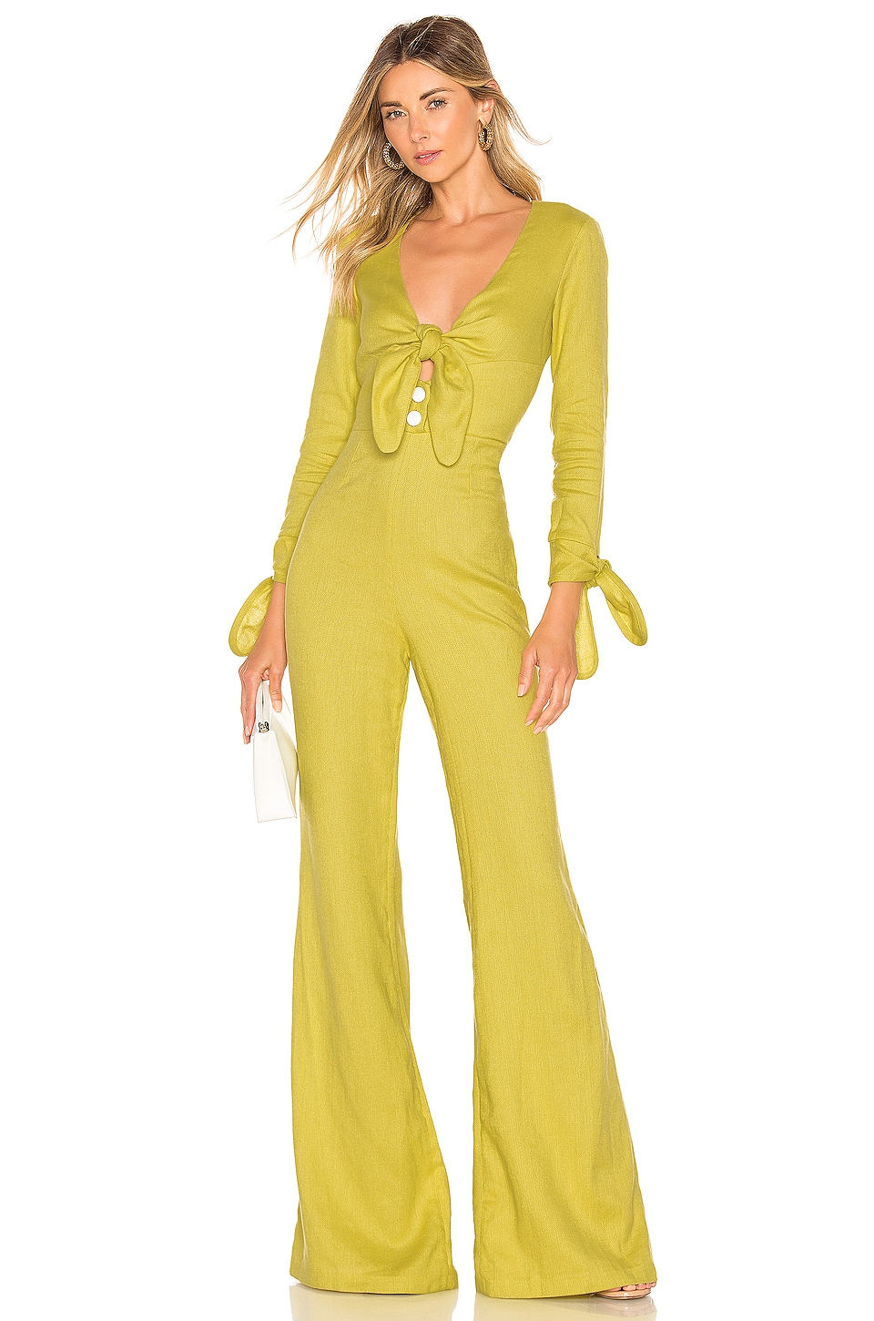Alexis Kaleo Jumpsuit in Lemongrass Linen