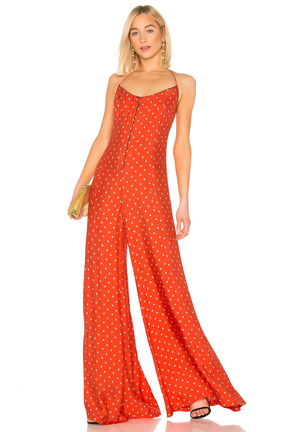 Alexis Holland Jumpsuit in Mandarin Shell