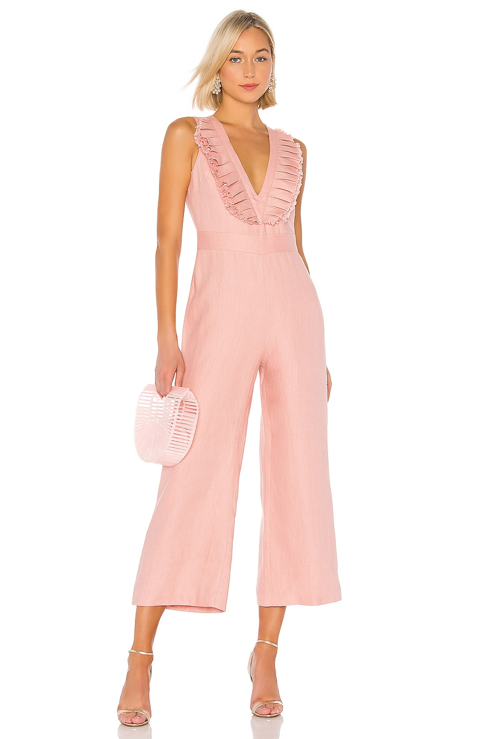 Alexis Odalys Jumpsuit in Blush