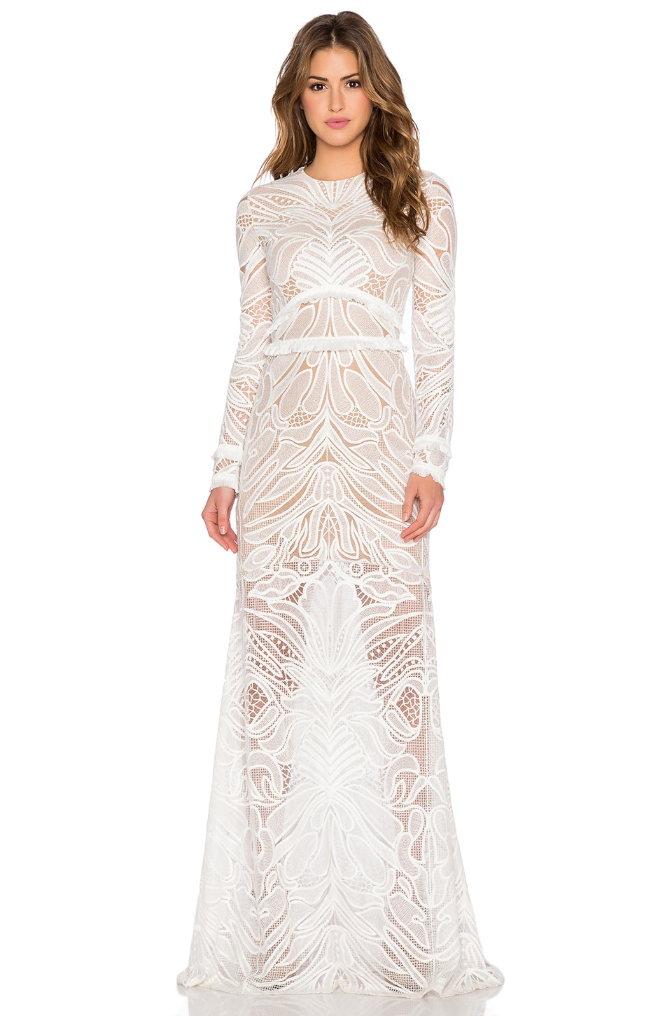 Alexis Vice Lace Maxi Dress in White Lace - REVOLVE