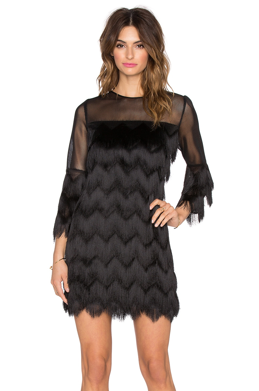 Alexis Xiomarra 3/4 Sleeve Fringe Dress in Black