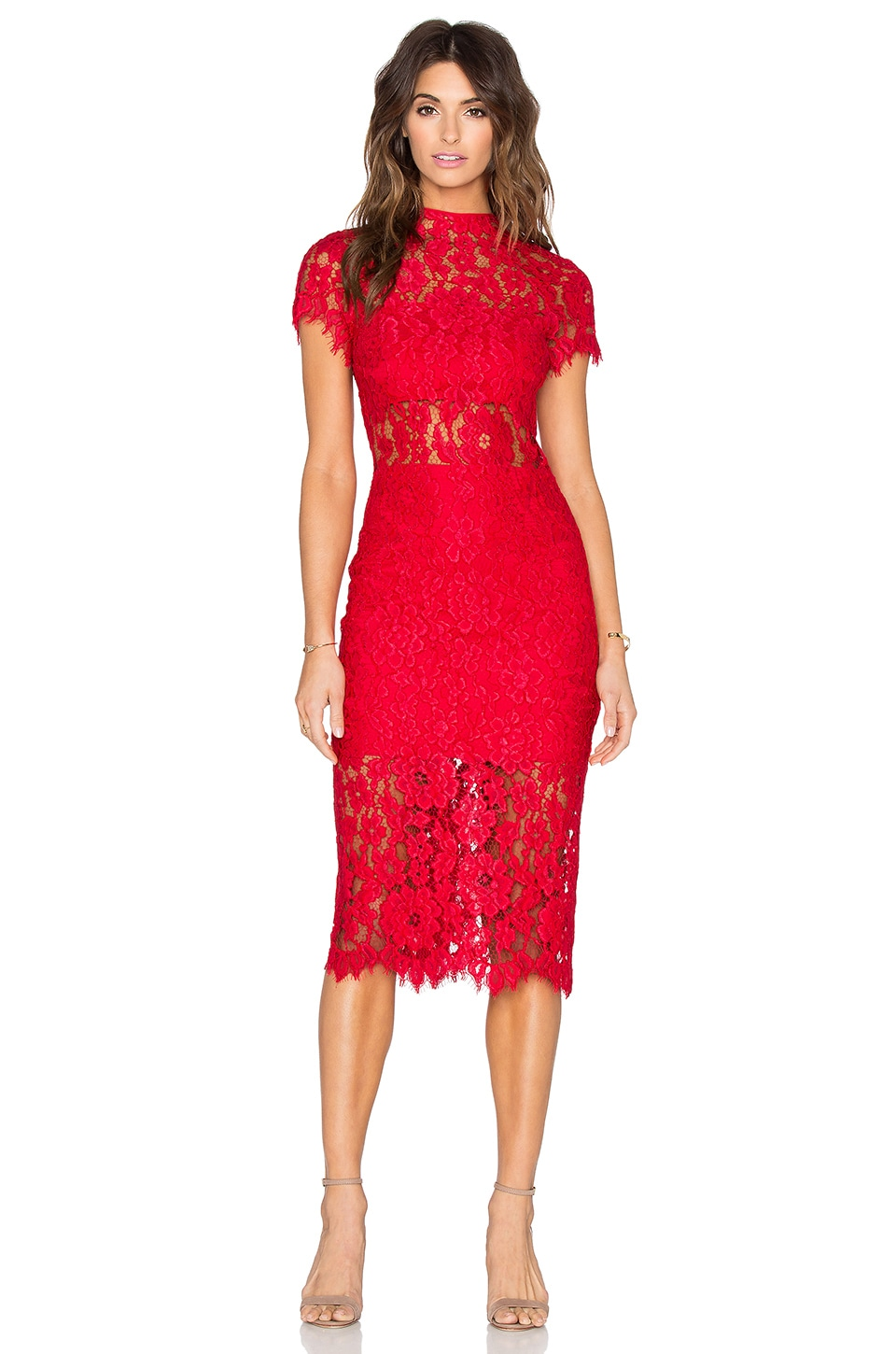 f49a8b67d49 Alexis Leona Dress in Red Lace