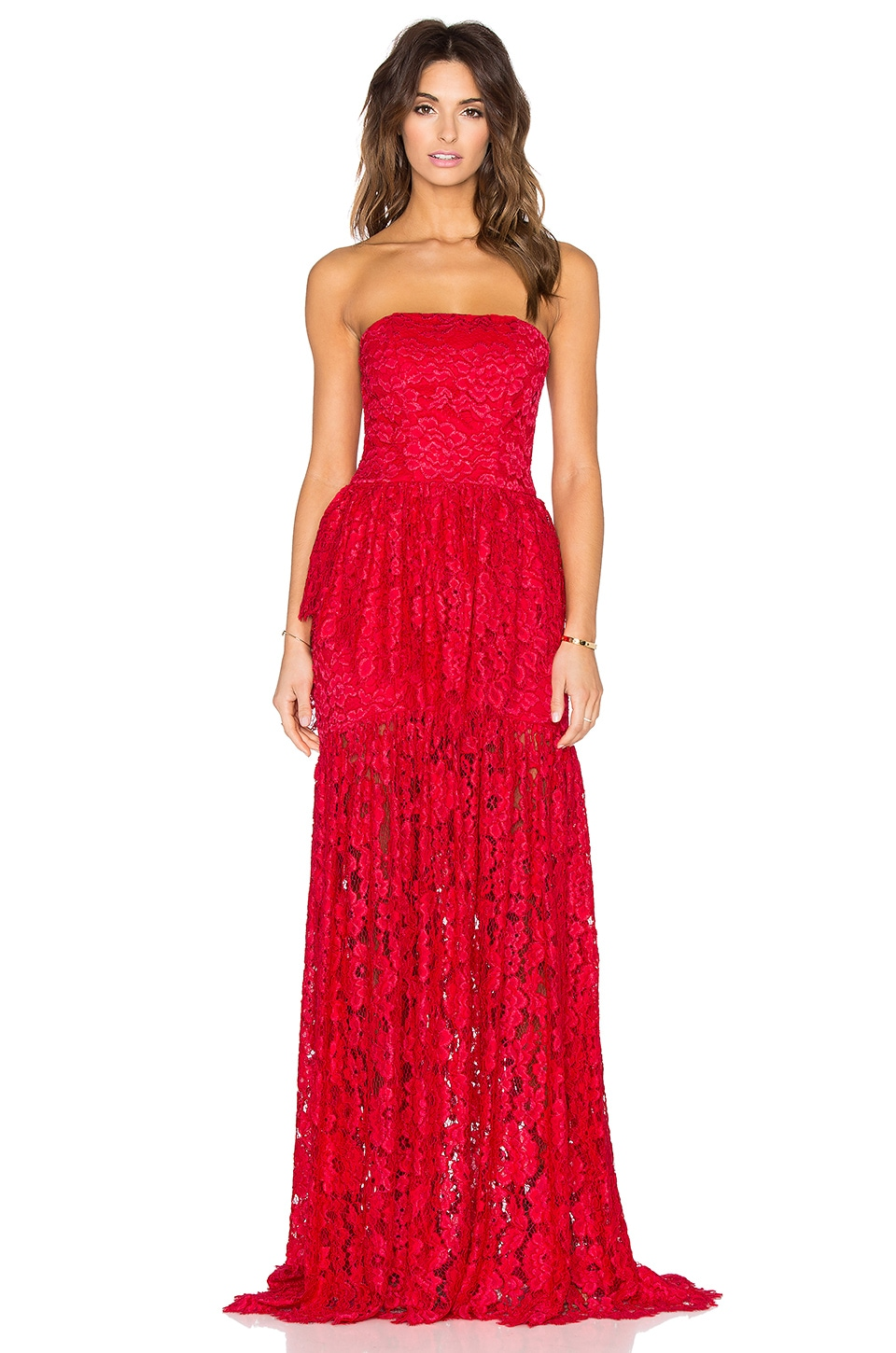 Alexis Sylvia Maxi Dress in Red Lace | REVOLVE
