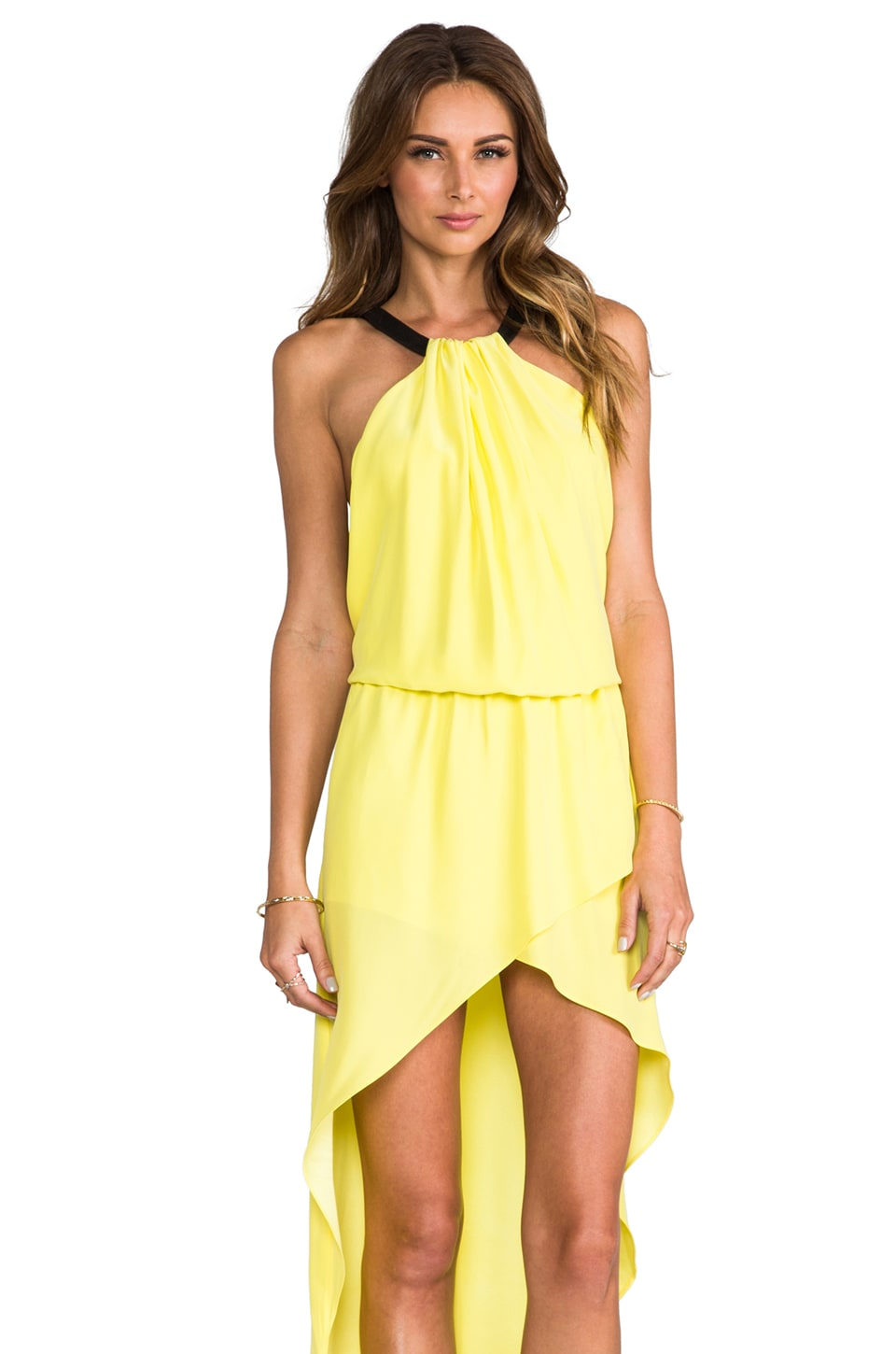 Alexis Swift Dress in Yellow Black