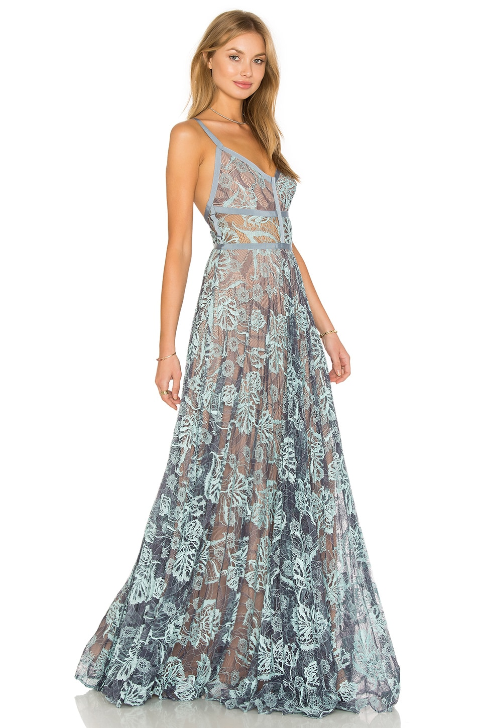 00dc9ff5 Alexis Isabella Gown in Light Blue Lace | REVOLVE
