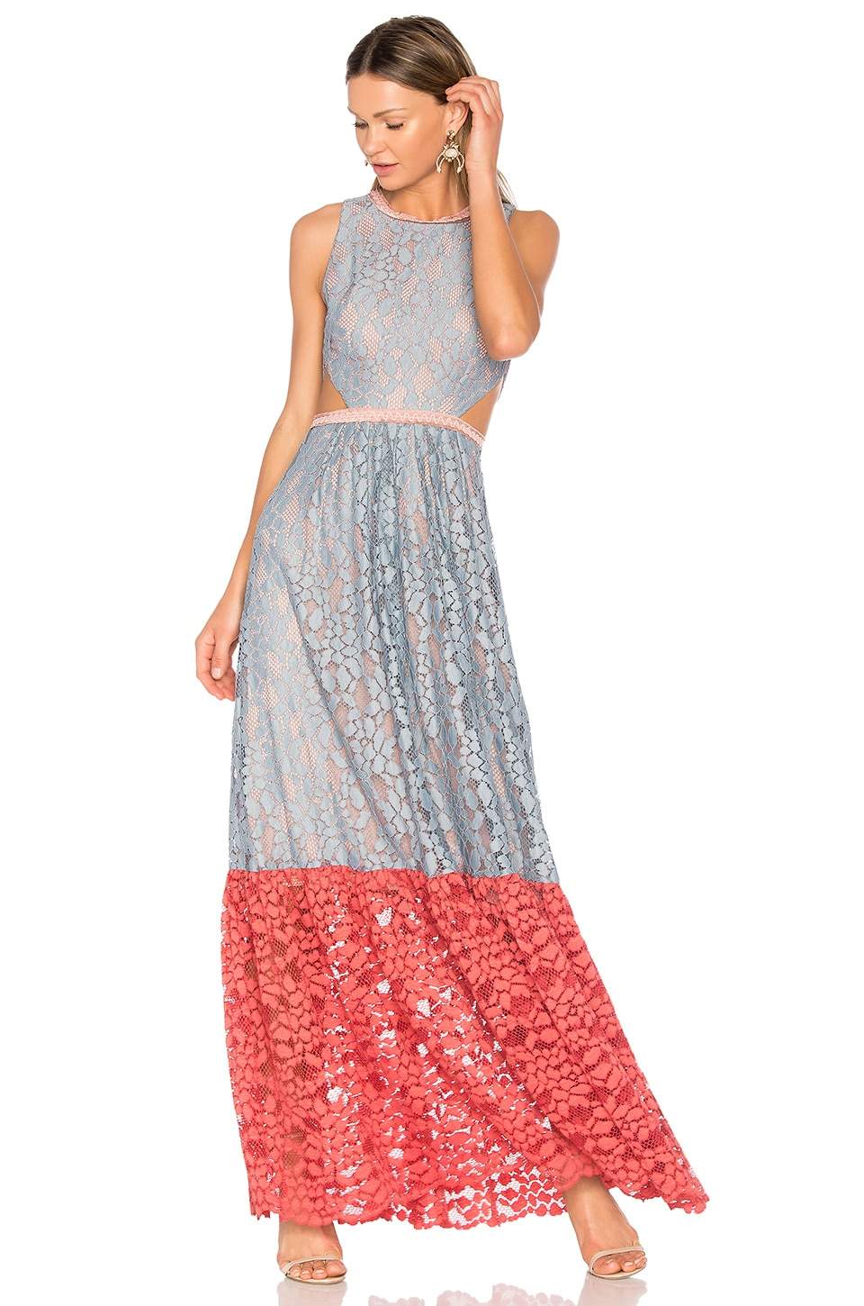 Alexis Arhea Gown in Multicolor Lace