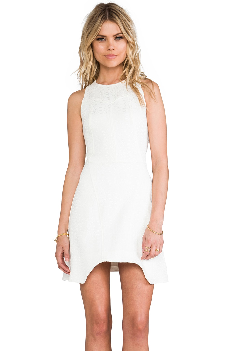 Alexis Dimitri Dress in White Python
