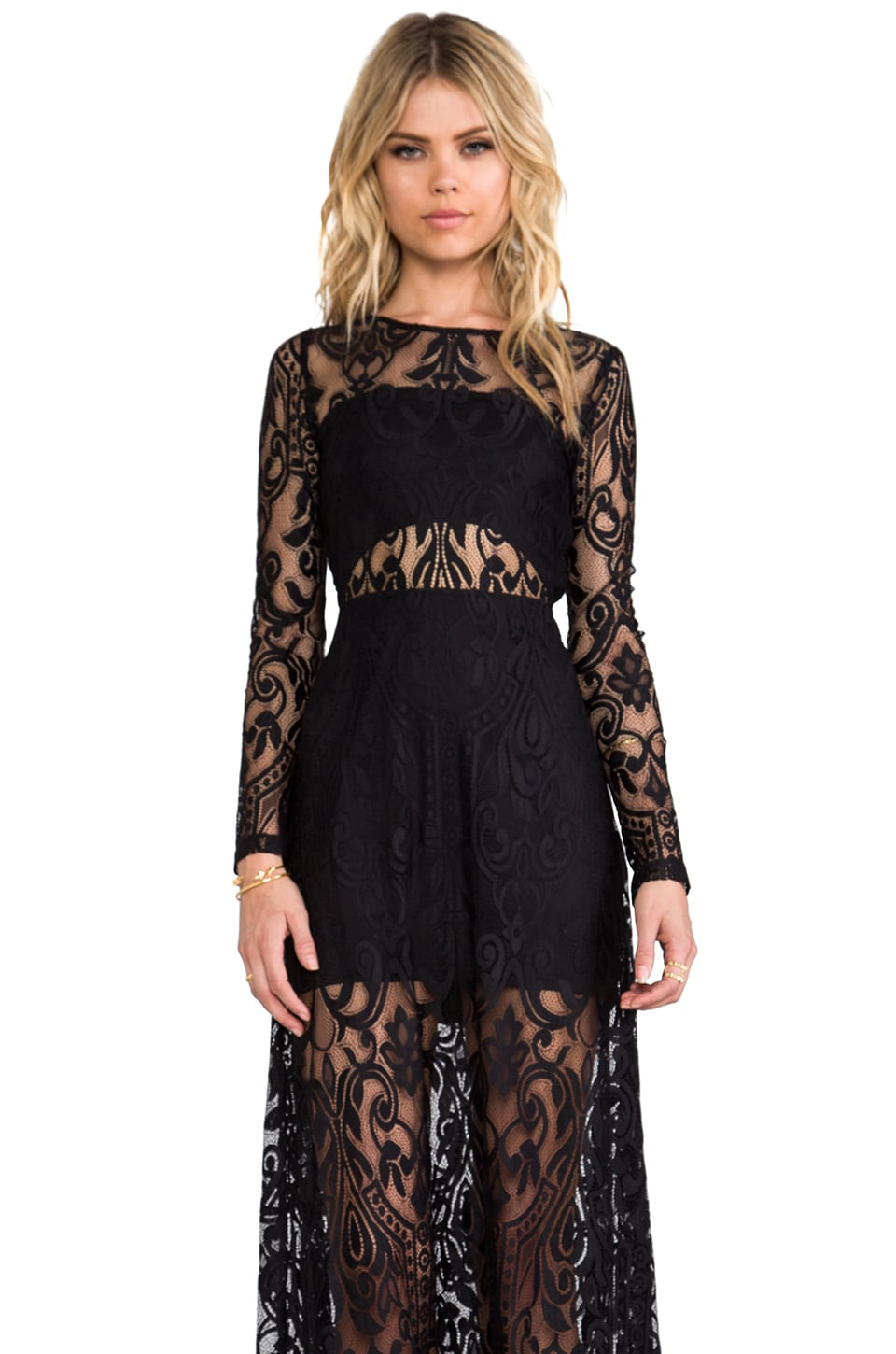 Alexis Marisol Dress in Black Lace