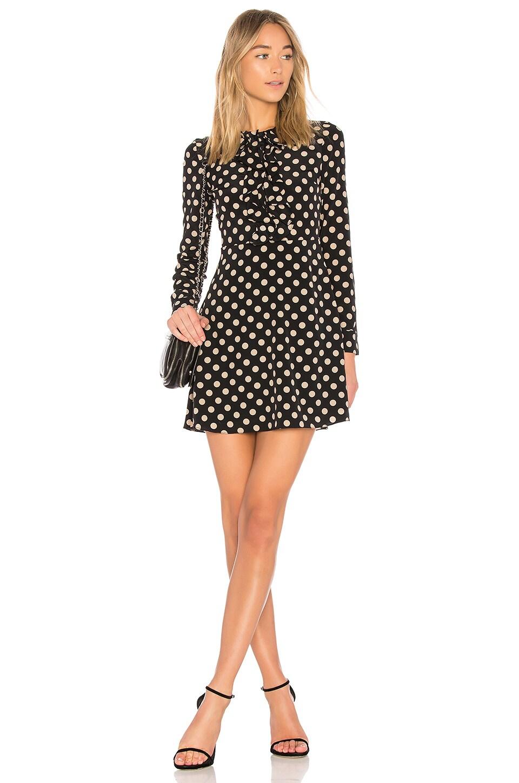 Alexis Corrine Dress in Beige Dot