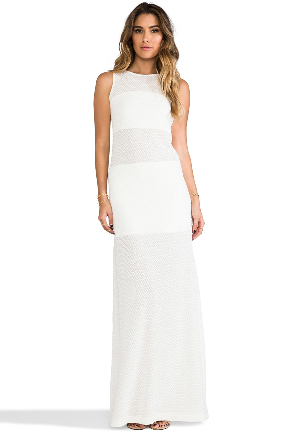Alexis Mizuri Maxi Dress in White Pebble