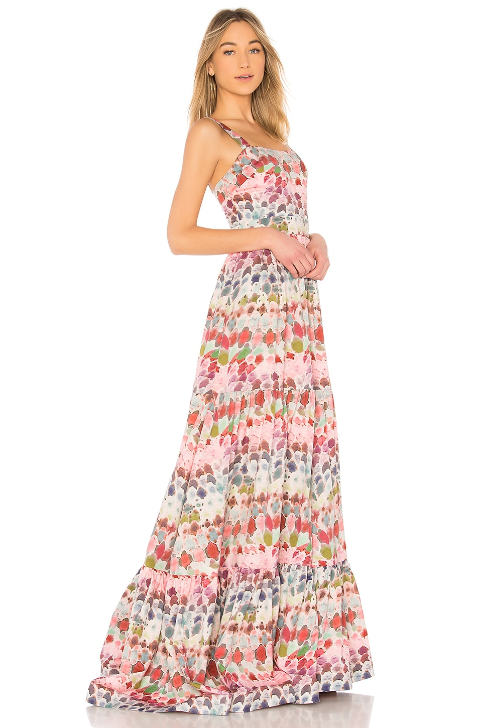 Alexis Galia Dress Crepe in Water Abstract Print