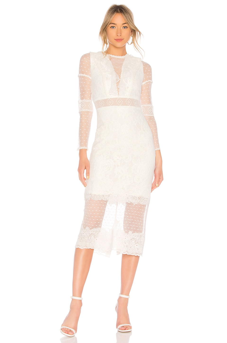 Alexis Elize Dress in White Lace