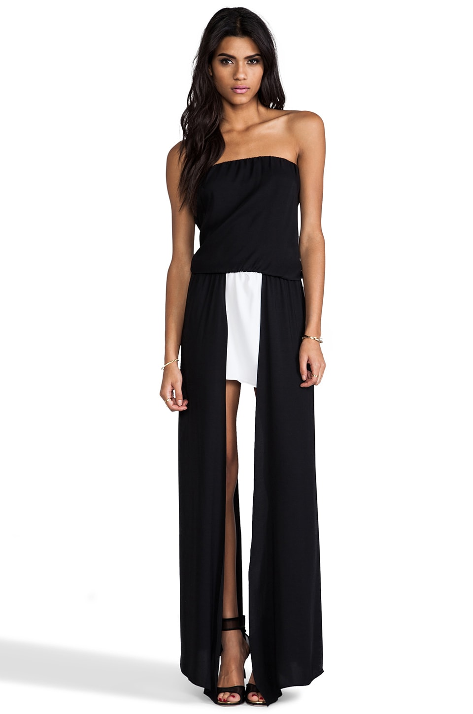 Alexis Mavra Asymmetrical Dress in Black & White