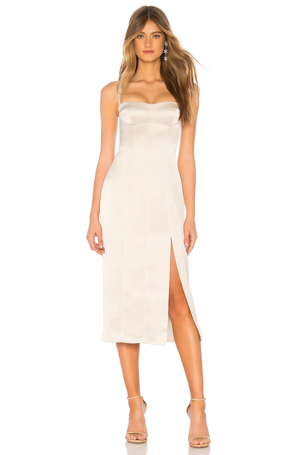 Alexis Yates Midi Dress in Alabaster