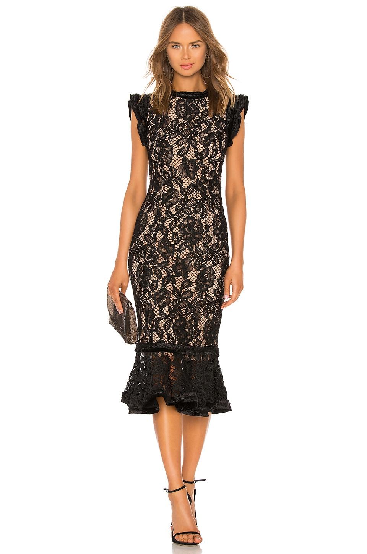 Alexis Kleo Midi Dress in Black Lace