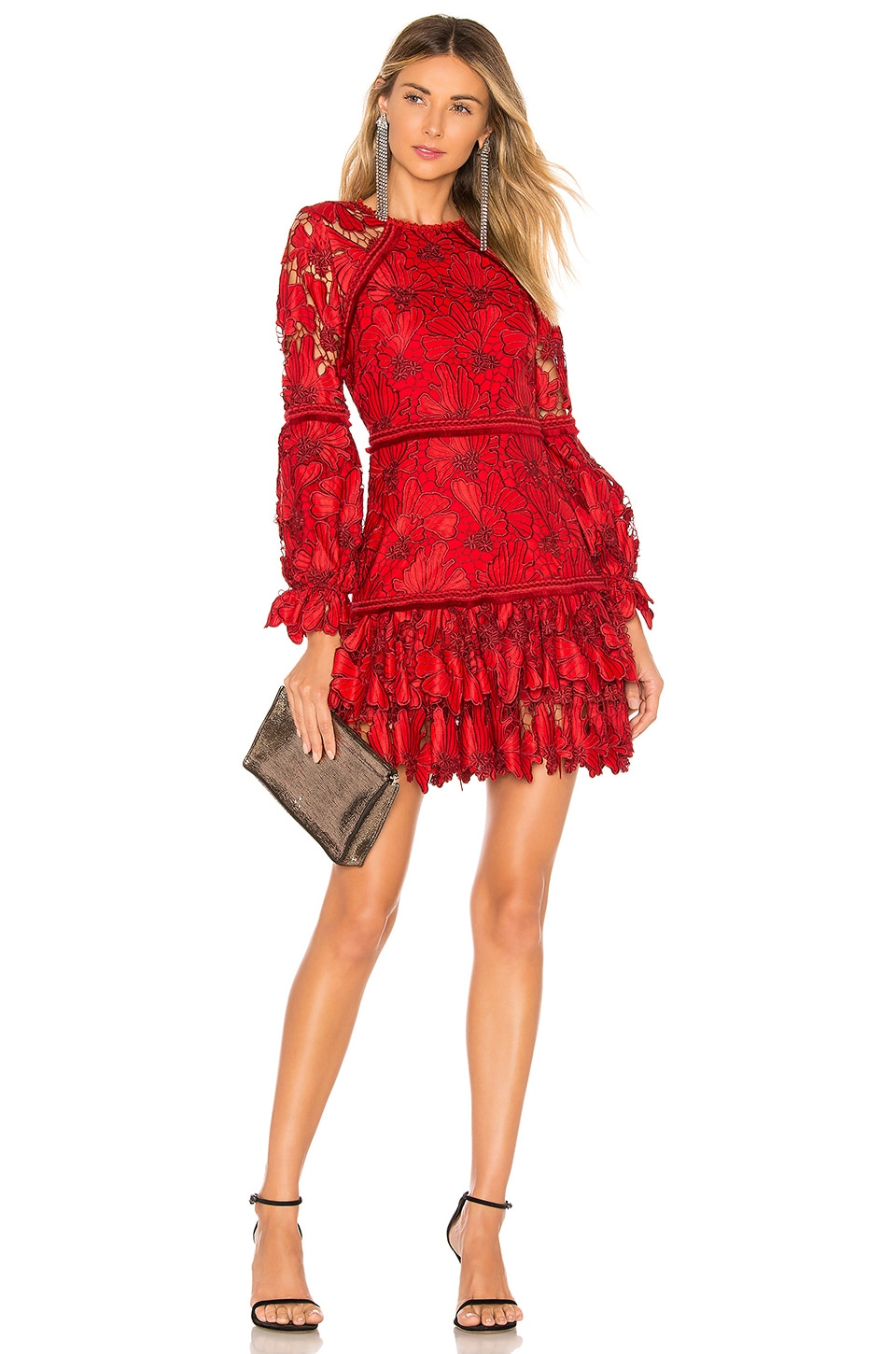 b4d8a8f3 Alexis Fransisca Lace Dress in Scarlet Lace | REVOLVE