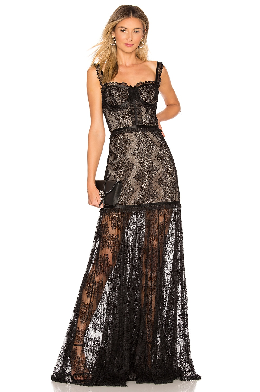 Alexis Kieran Dress in Black Lace