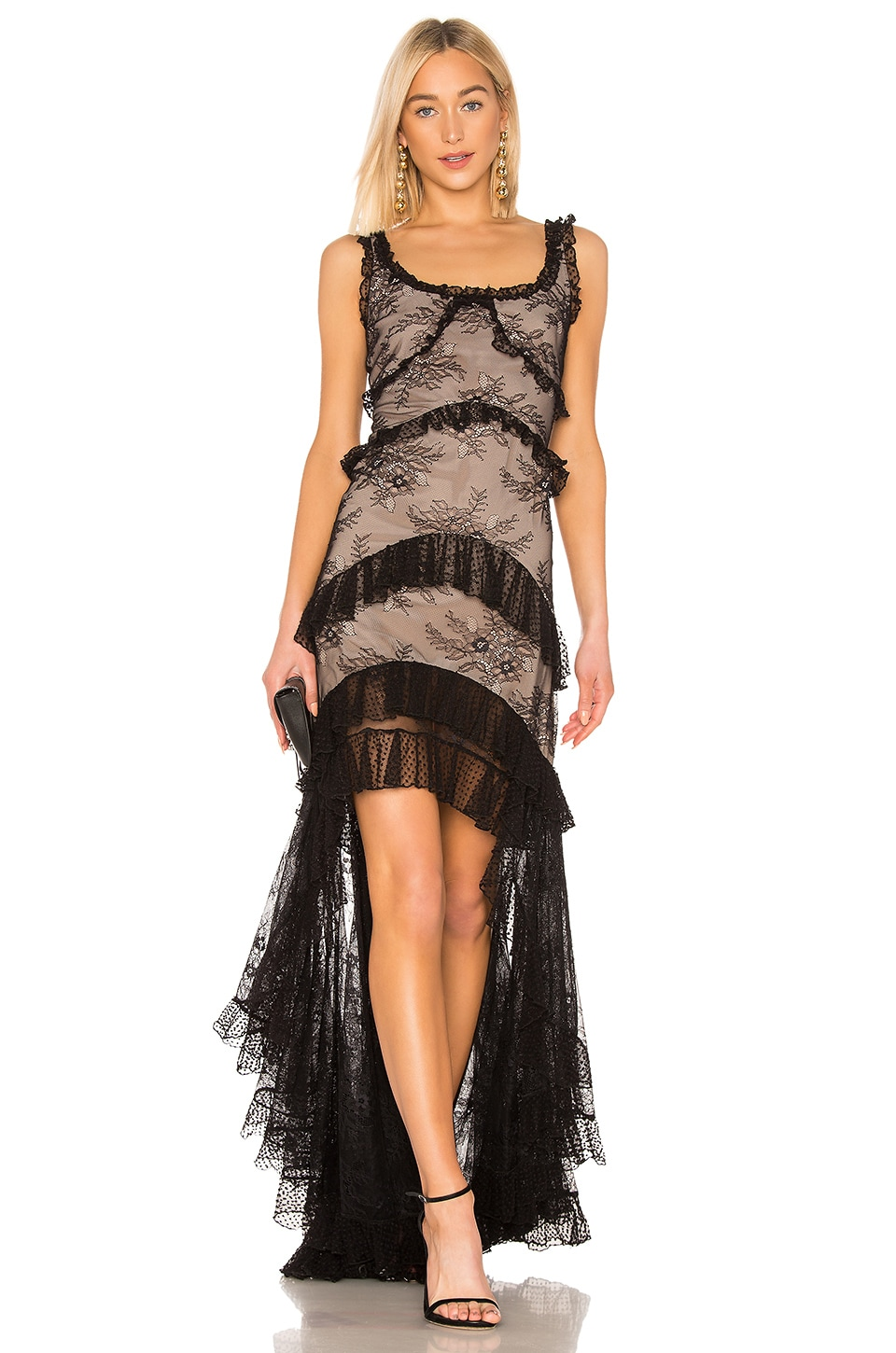 Alexis Timotha Gown in Black Lace