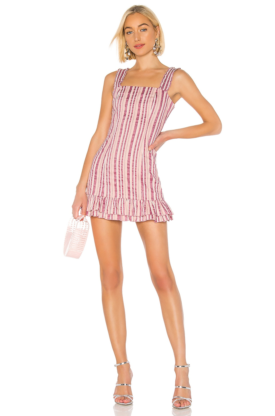 Alexis Brandy Dress in Rose Stripe