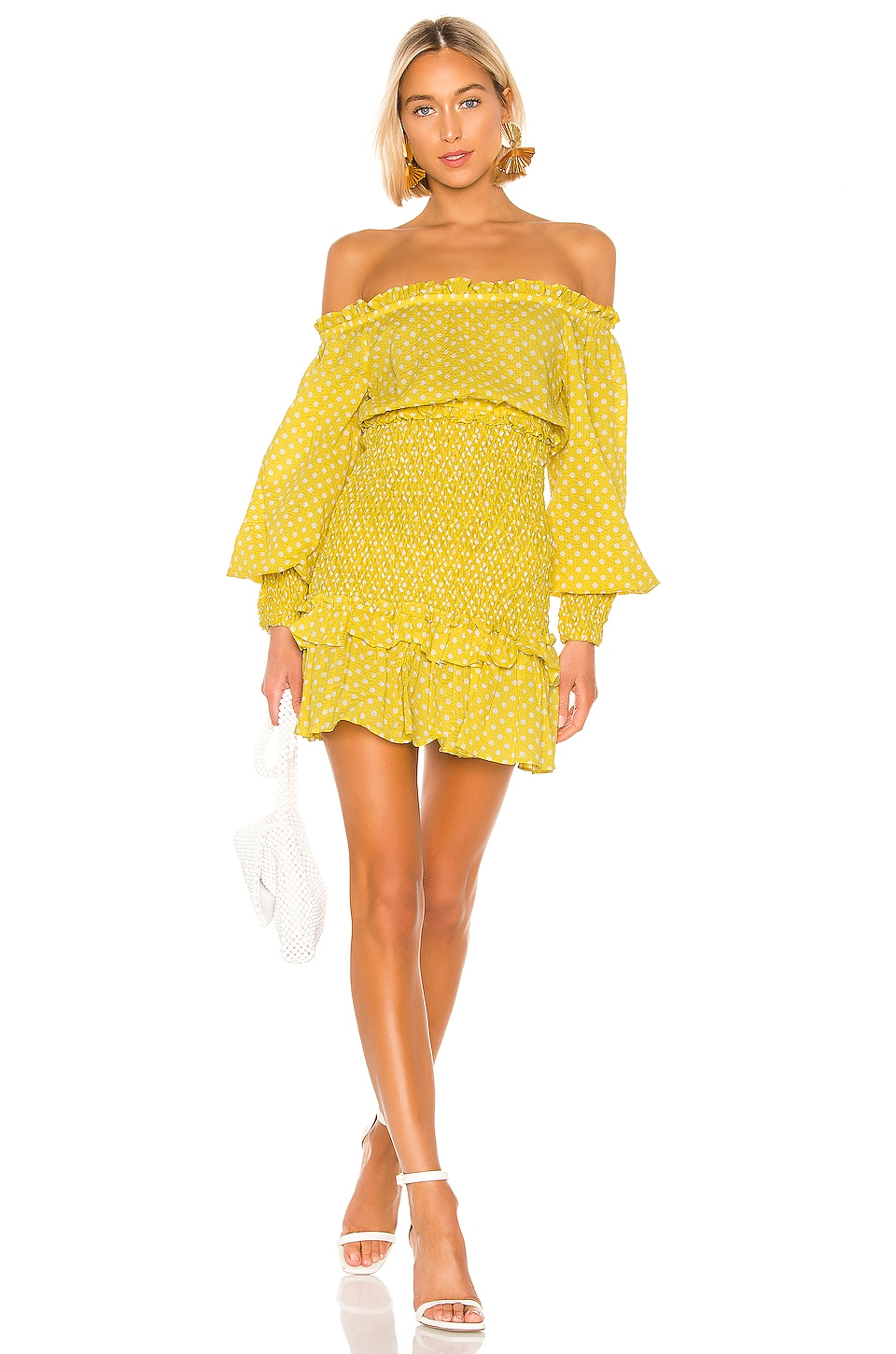 Alexis Marilena Dress in Yellow Dot