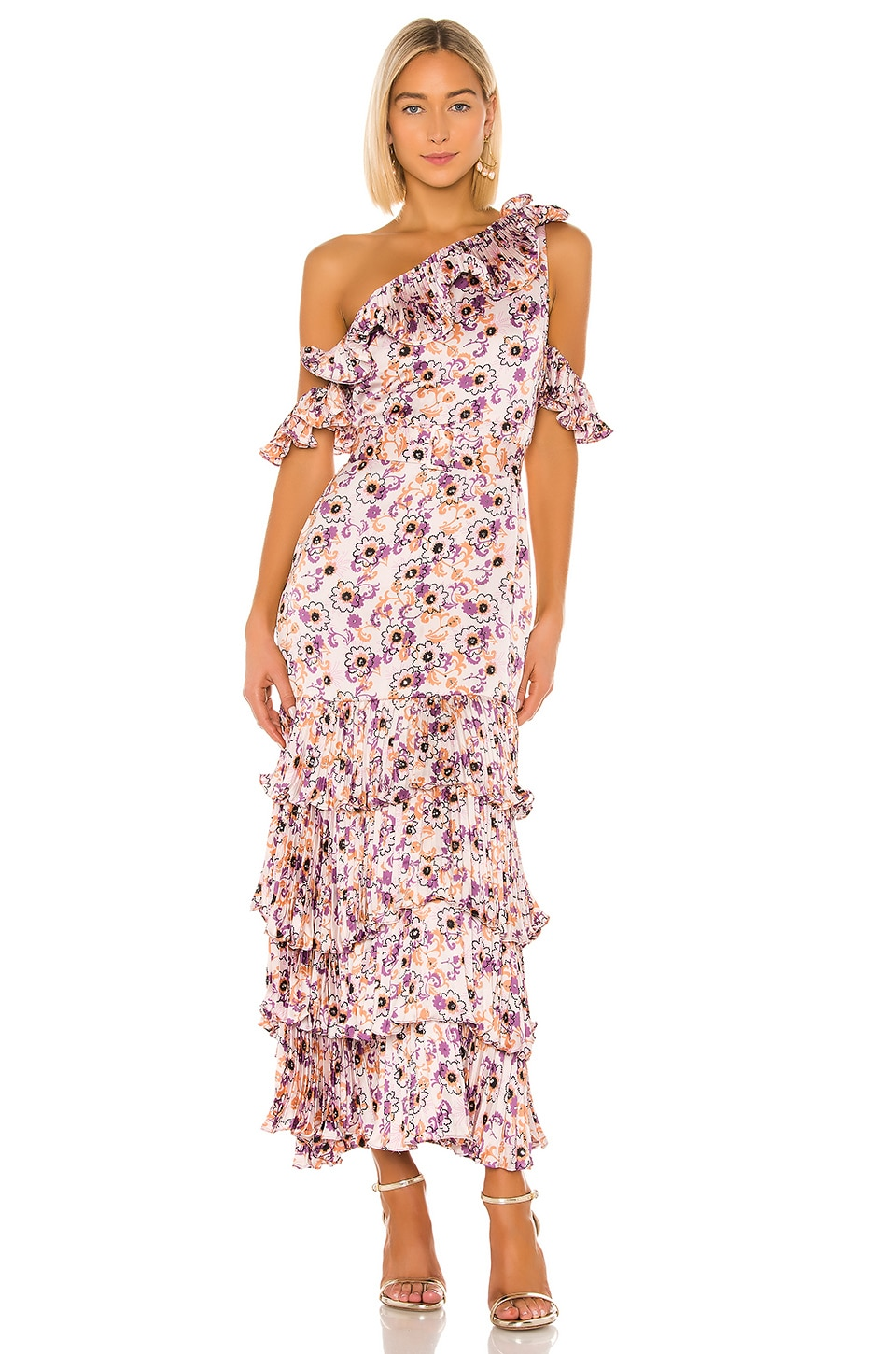 Alexis Amonda Dress in Lilac Beaded Floral