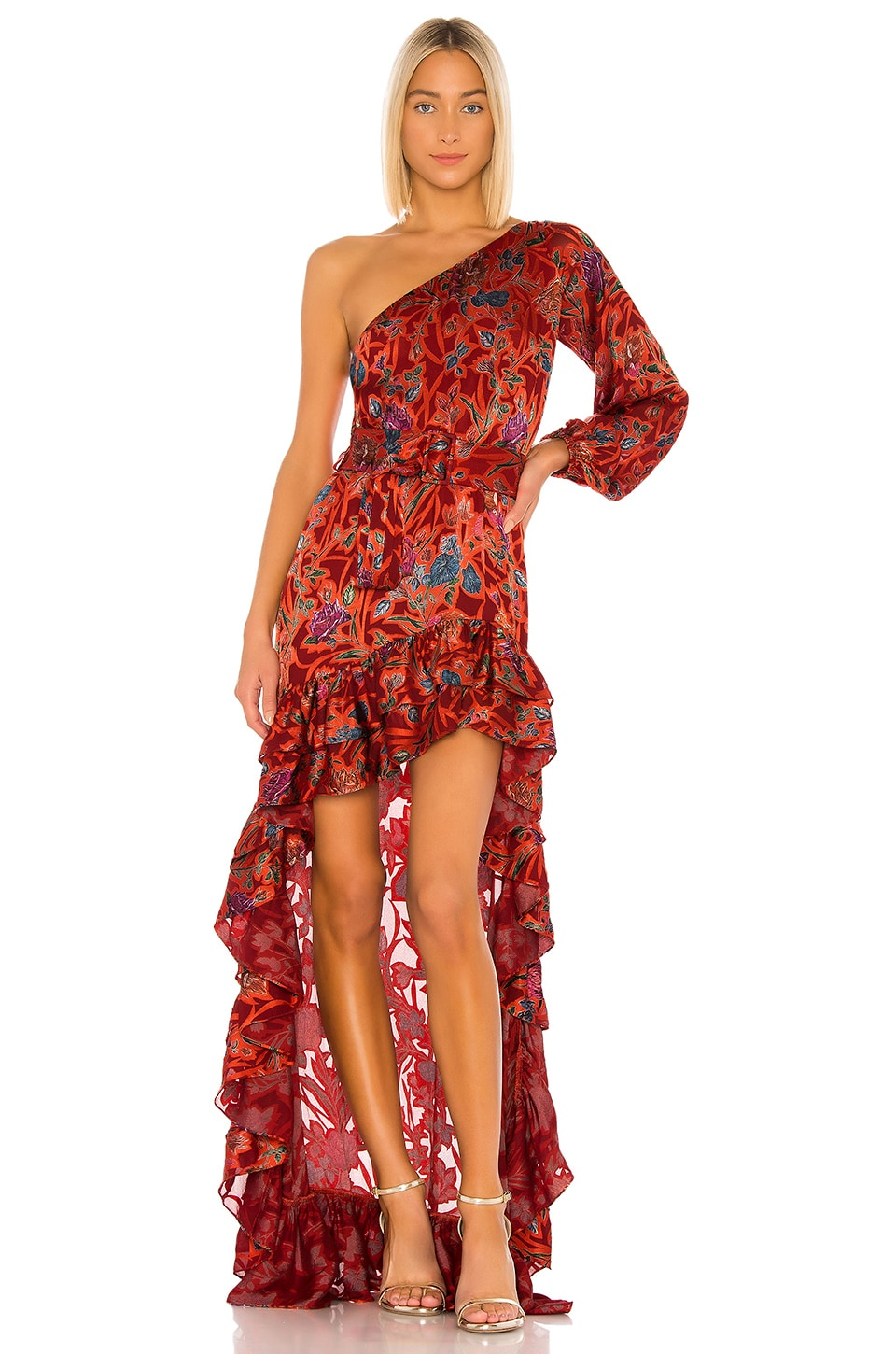 Alexis Marseille Dress in Red Floral