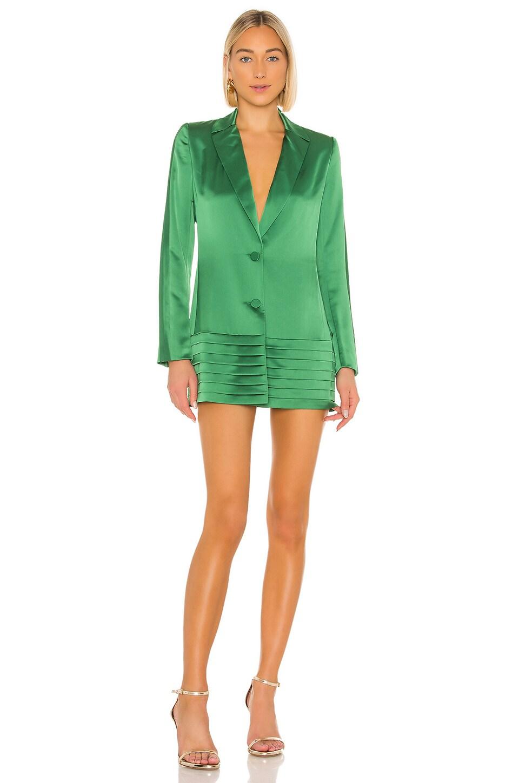 Alexis Oskari Dress in Emerald Green