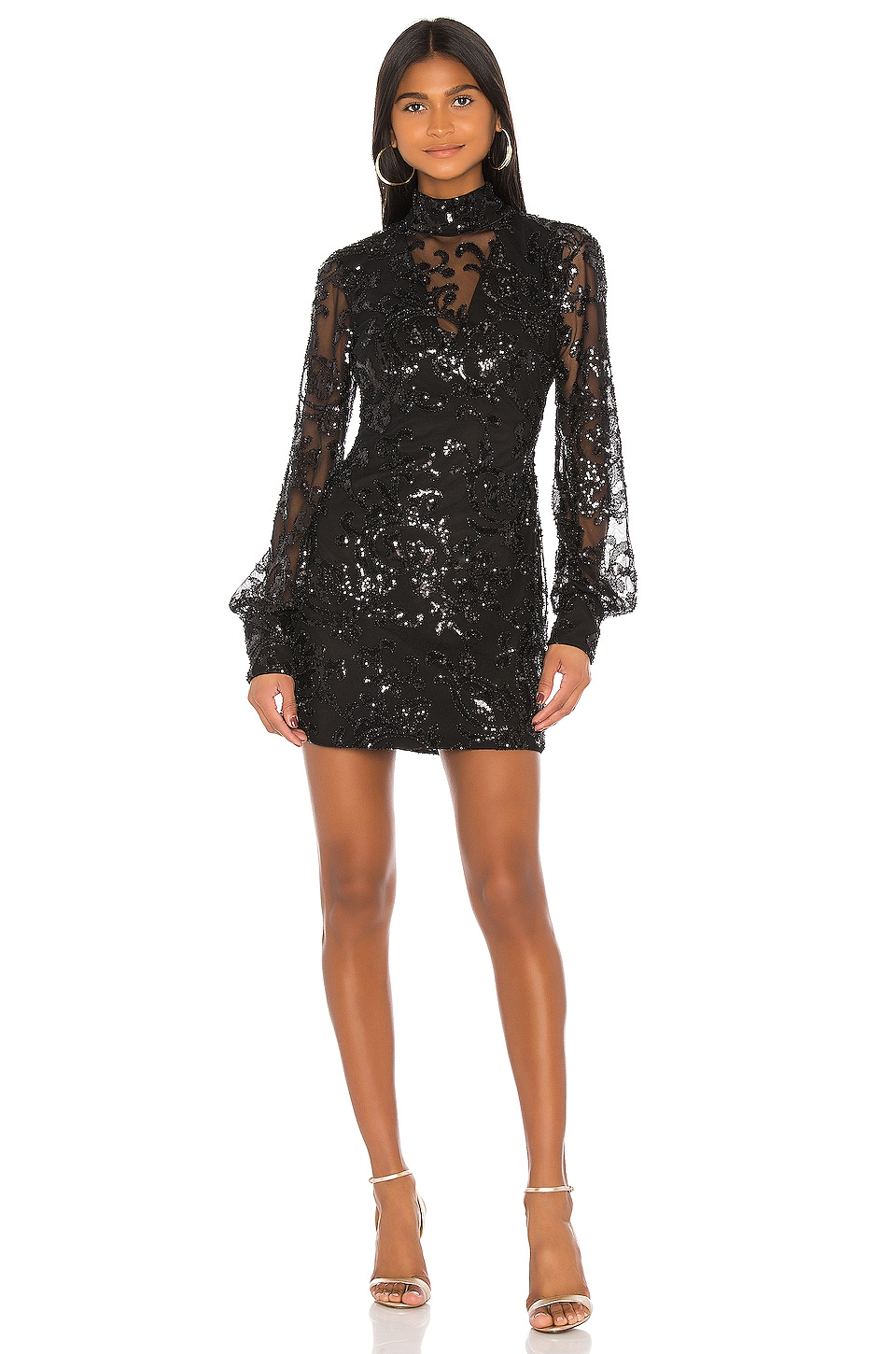 Alexis Franciska Dress in Beaded Black