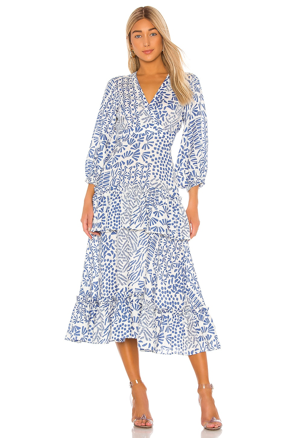 Alexis Tereasa Dress in Blue Abstract