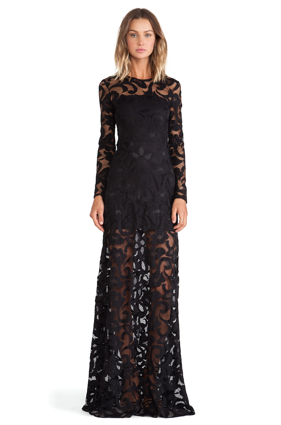 Alexis Maribor Lace Dress in Black