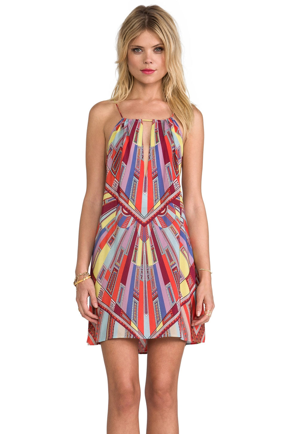 Alexis Martin Short Halter Dress in Art Deco