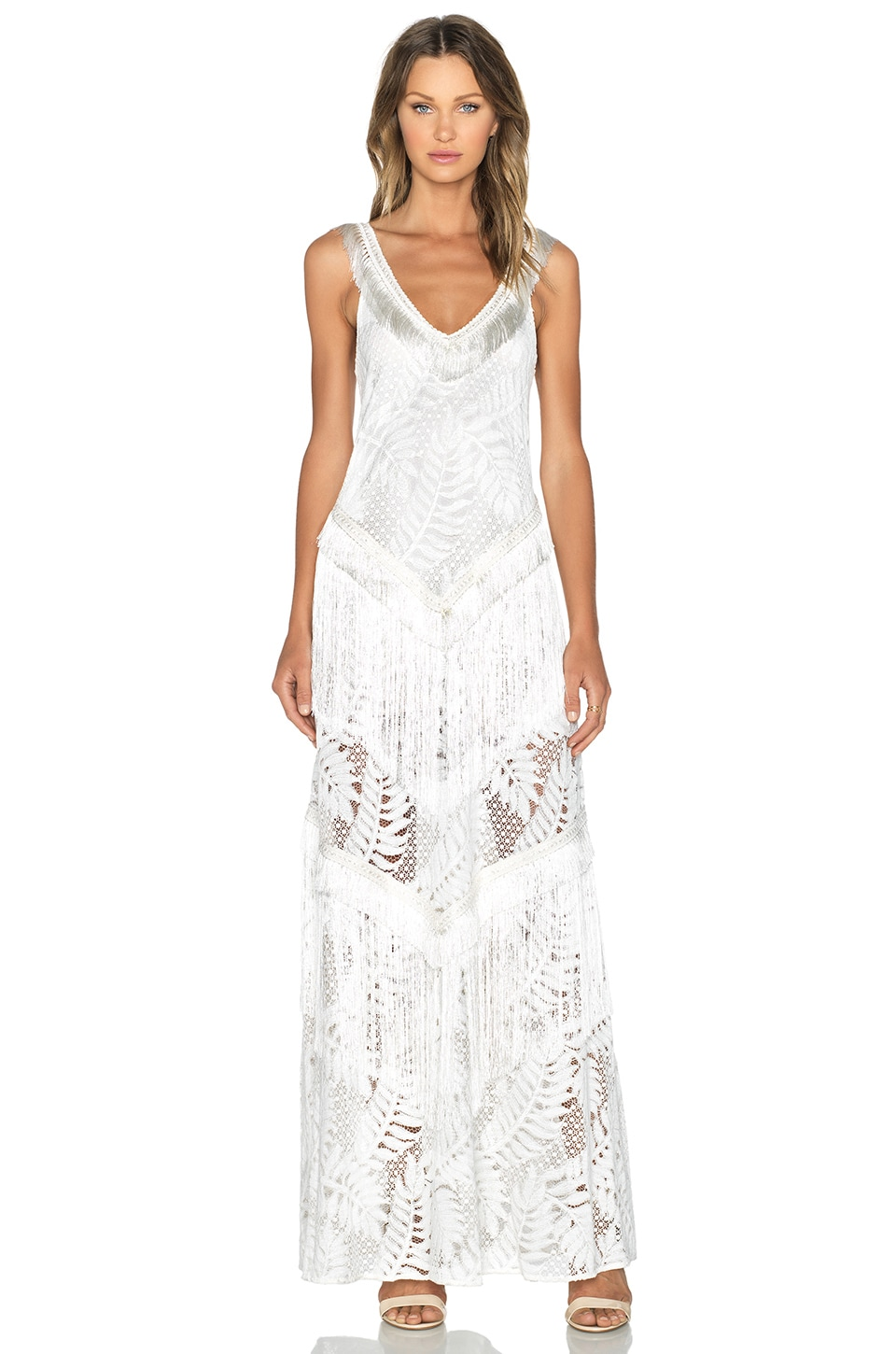 Alexis Fabienne Lace Dress in Off White