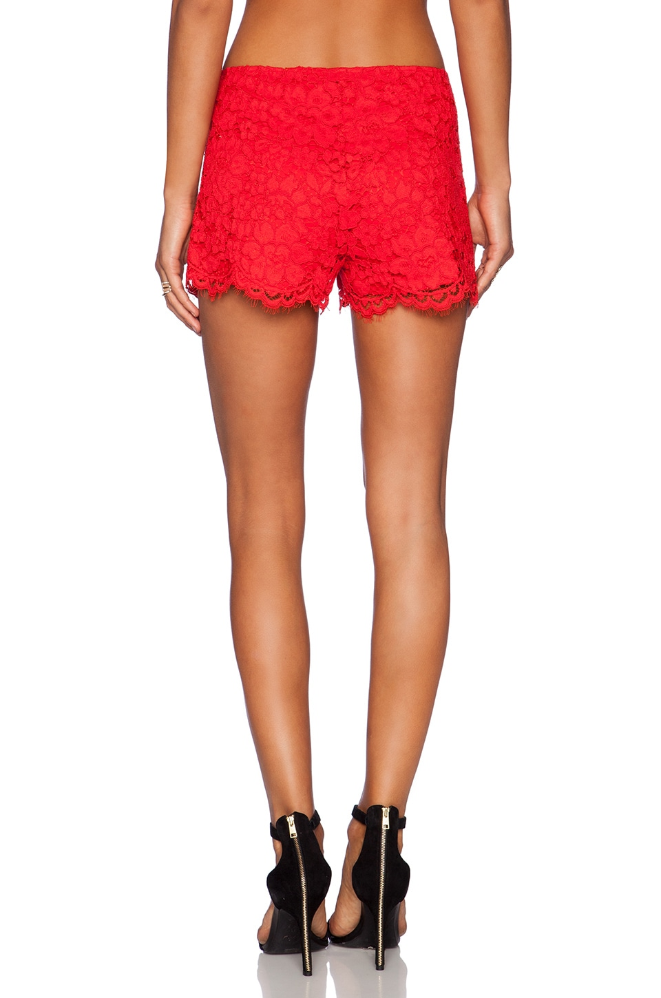 Alexis Martinique Lace Shorts in Red Lace | REVOLVE